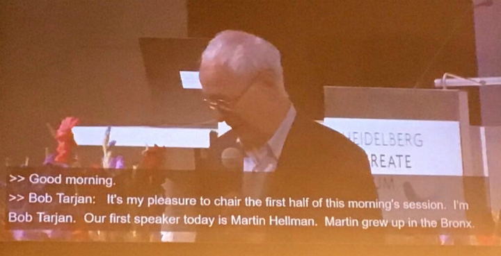 Photo of captions at Heidelberg Laureate Forum